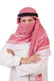 Odizolowywający arabski mężczyzna Fotografia Royalty Free