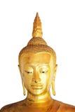 Odizolowywający Buddha stawia czoło na białym tle Zdjęcia Stock