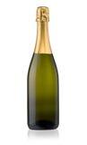 odizolowywający butelka szampan Fotografia Stock