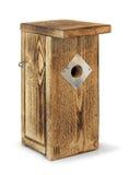 Odizolowywający drewniany birdhouse Zdjęcia Royalty Free