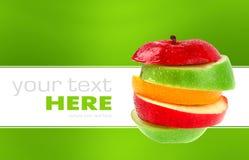 odizolowywający jabłczany tło Obrazy Stock