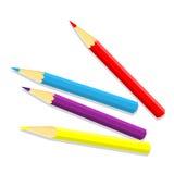 Odizolowywający koloru ołówek - wektorowa ilustracja Royalty Ilustracja