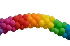 odizolowywający lotniczy łękowaci balony Obrazy Stock