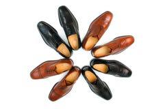 Odizolowywający męscy buty Obrazy Royalty Free