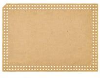 Odizolowywający na biały rocznika pustym papierowym punchcard obraz royalty free