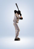 Odizolowywający na białym fachowym graczu baseballa zdjęcie royalty free