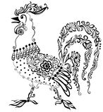Odizolowywający na biel abstrakcjonistyczny ptak. Zdjęcia Royalty Free