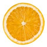 Odizolowywający na biel pomarańczowy plasterek obraz royalty free