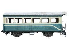 Odizolowywający na biel stary pociąg Obraz Royalty Free