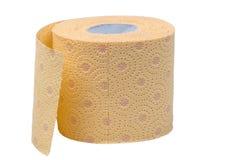 odizolowywający nad papierowej rolki toaletowym biel Fotografia Stock