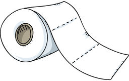 odizolowywający nad papierowej rolki toaletowym biel ilustracji