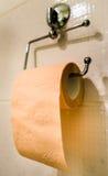 odizolowywający nad papierowej rolki toaletowym biel Obrazy Stock