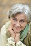 odizolowywający nad portreta seniora białą kobietą Zdjęcia Stock