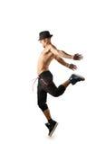 Odizolowywający nagi tancerz Fotografia Stock