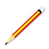 Odizolowywający ołówek - wektorowa ilustracja Ilustracji