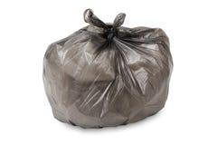 odizolowywający pełny torba śmieci Fotografia Stock