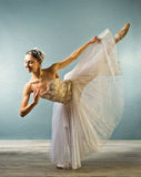 odizolowywający piękny balerina taniec Zdjęcie Royalty Free