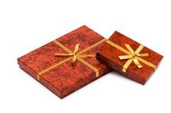 Odizolowywający prezentów pudełka obraz stock