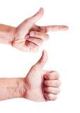 Odizolowywający ręka gesty Zdjęcia Stock