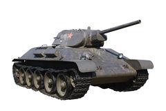 Odizolowywający rosyjski średni zbiornik T-34 Obraz Stock