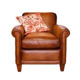 Odizolowywający rzemienny krzesło fotografia royalty free