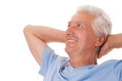 Odizolowywający starszy mężczyzna zdjęcie royalty free