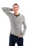 Odizolowywający szczęśliwy przystojny mężczyzna Zdjęcia Royalty Free