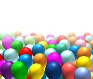 odizolowywający tło balony Fotografia Royalty Free
