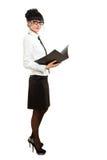 odizolowywająca bizneswoman falcówka zdjęcie royalty free