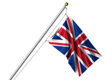 odizolowywająca British flaga Obrazy Royalty Free