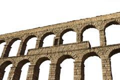 Odizolowywający akwedukt Segovia Fotografia Stock