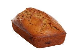 odizolowywający bananowy chleb Obrazy Royalty Free