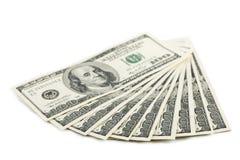 odizolowywający banknotu dolar Zdjęcia Royalty Free