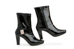 odizolowywający czarny buty Zdjęcie Royalty Free