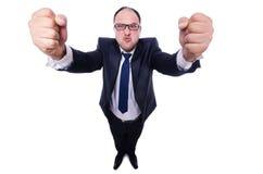 odizolowywający gniewny biznesmen Fotografia Stock