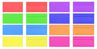 odizolowywający koperta tylny pusty kolorowy przód Obrazy Stock