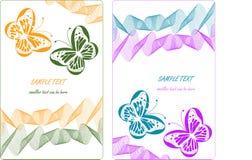 Odizolowywający na biel kolorowi motyle Fotografia Royalty Free