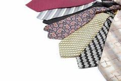 Odizolowywający na biel luksusowi krawaty. Zdjęcia Royalty Free