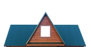 Odizolowywający na biel metalu dach Zdjęcie Stock