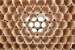 odizolowywający nad papierowej rolki toaletowym biel Zdjęcie Stock