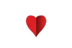 Odizolowywający papierowy serce Fotografia Stock