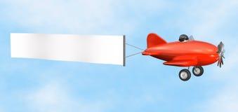 odizolowywający samolotowy sztandar Obrazy Royalty Free