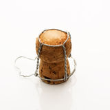 odizolowywający szampana korek Zdjęcie Stock