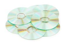 Odizolowywający wiele CDs Obrazy Stock
