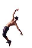 Odizolowywający nagi tancerz Obrazy Stock