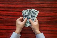 odjąć pieniądze Fotografia Stock