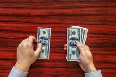 odjąć pieniądze Zdjęcie Stock