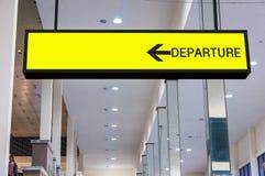 Odjazd deski znak przy lotniskiem Zdjęcie Stock