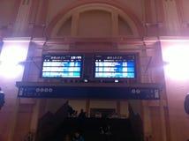 Odjazdu znak przy Pilsen stacją kolejową obraz royalty free