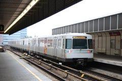 odjeżdża stacja metru Vienna Obrazy Stock